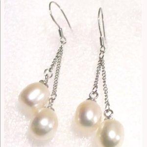 White Peal Earrings